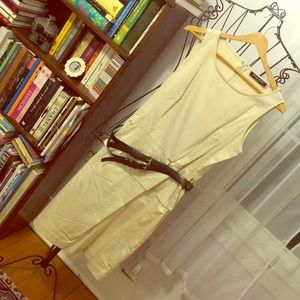 Khaki Dress- Polished Cotton, Business Casual.